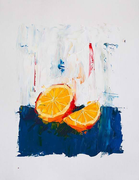 A Simple Orange - Oil Painting