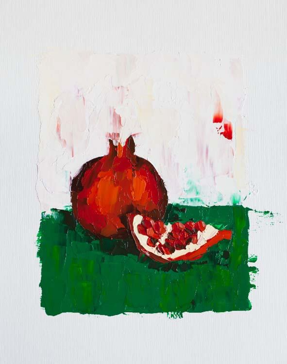 Chunk of Pomegranate - Oil Painting