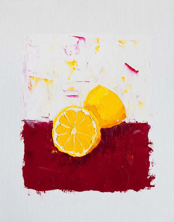 Two Sides to Every Lemon - Oil Painting