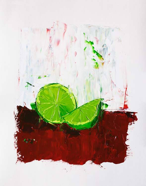 Zesting a Lime - Oil Painting